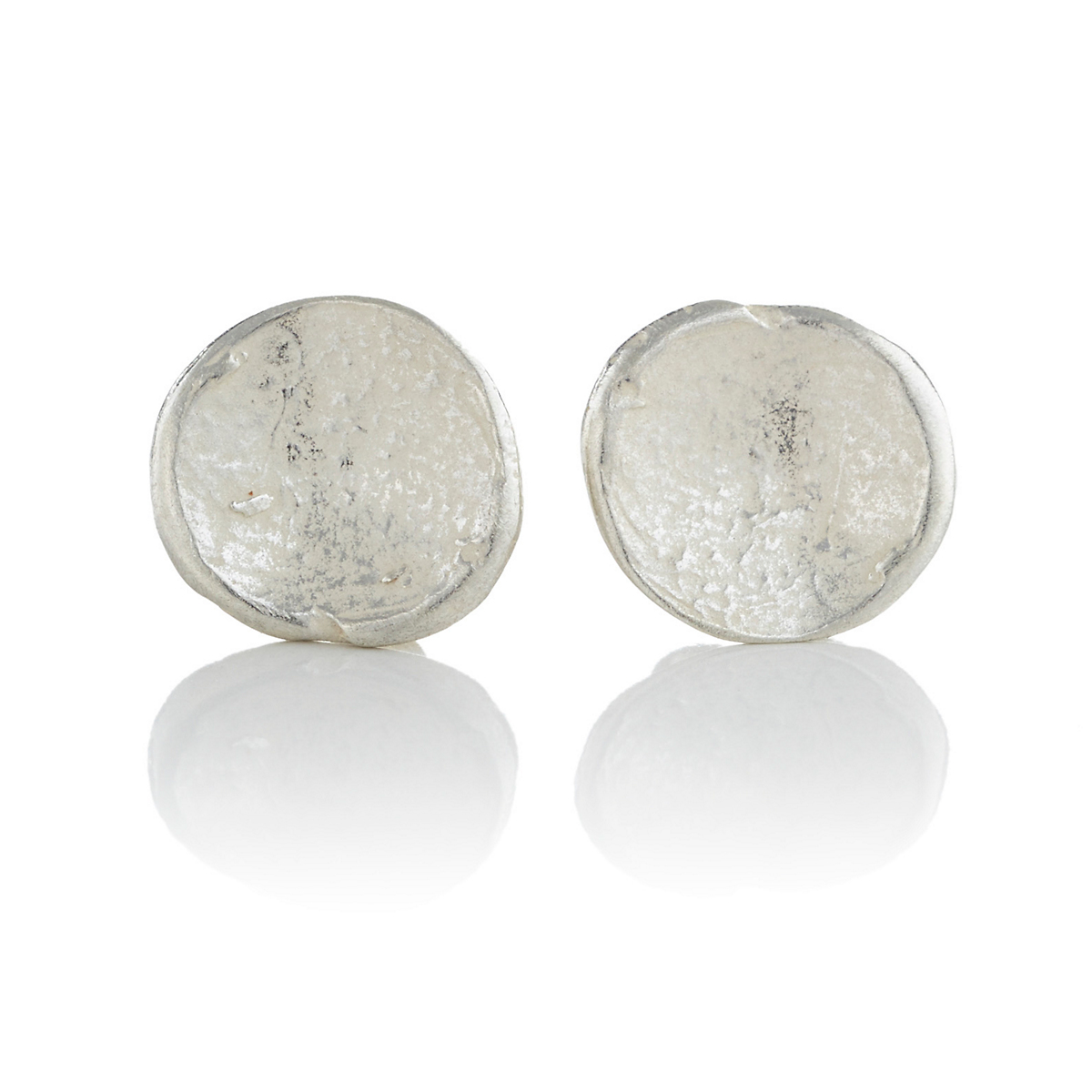 John Iversen Sterling Silver Anemone Earrings