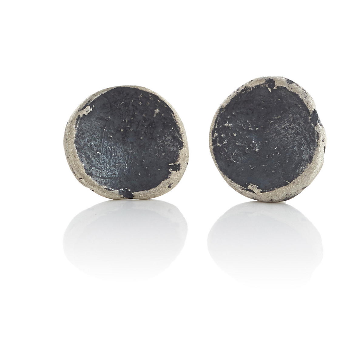 John Iversen Oxidized Silver Anemone Earrings