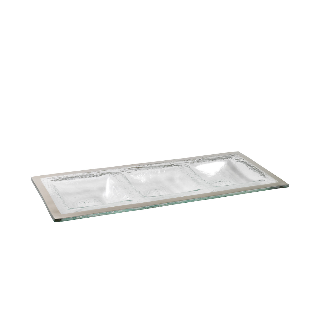 Annieglass Roman Antique 3-Section Tray