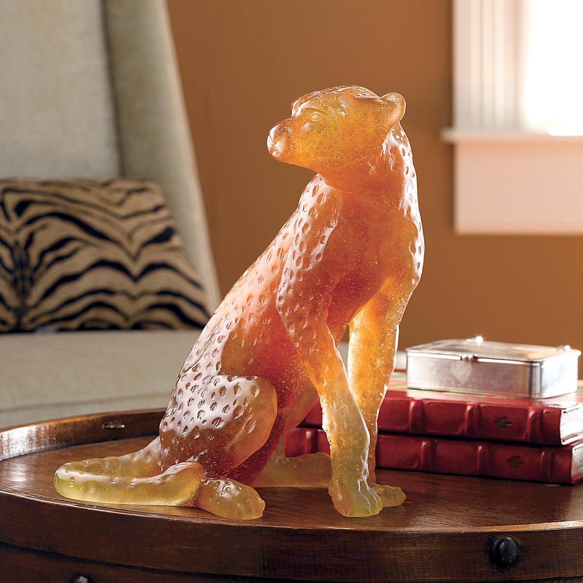 daum crystal pate de verre cheetah gump 39 s. Black Bedroom Furniture Sets. Home Design Ideas