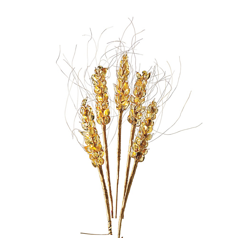 Murano Glass Wheat Stems, Set of 6