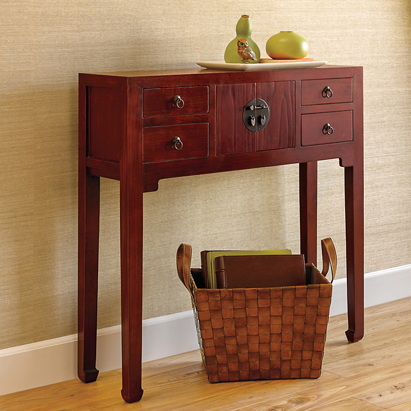 Mandarin Console Table, Red