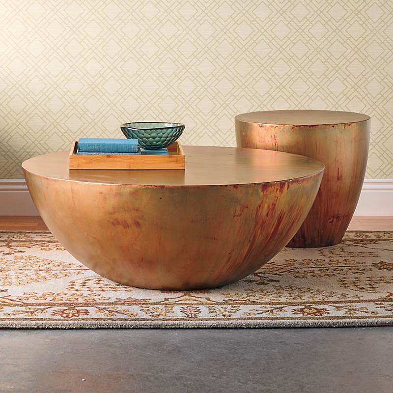 Copper Kettledrum Table