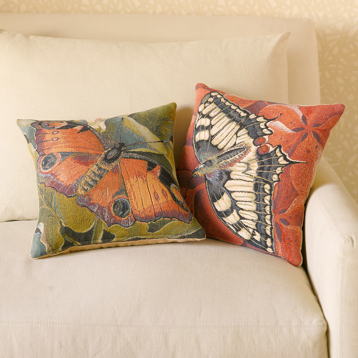 Moth Tapestry Pillows