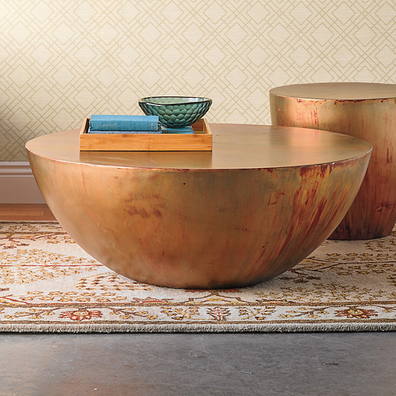 Copper Kettledrum Side Table