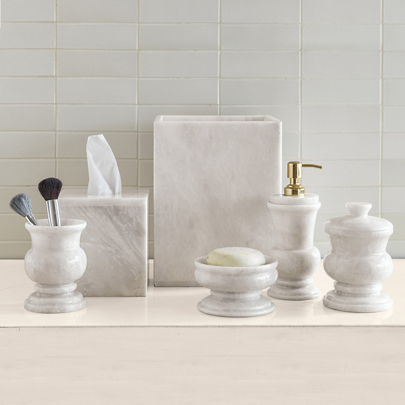White Marble Bath Accessories