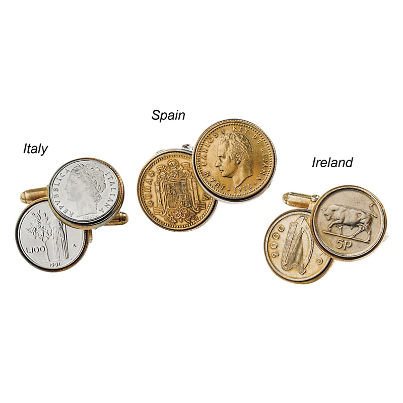 European Coin Cufflinks