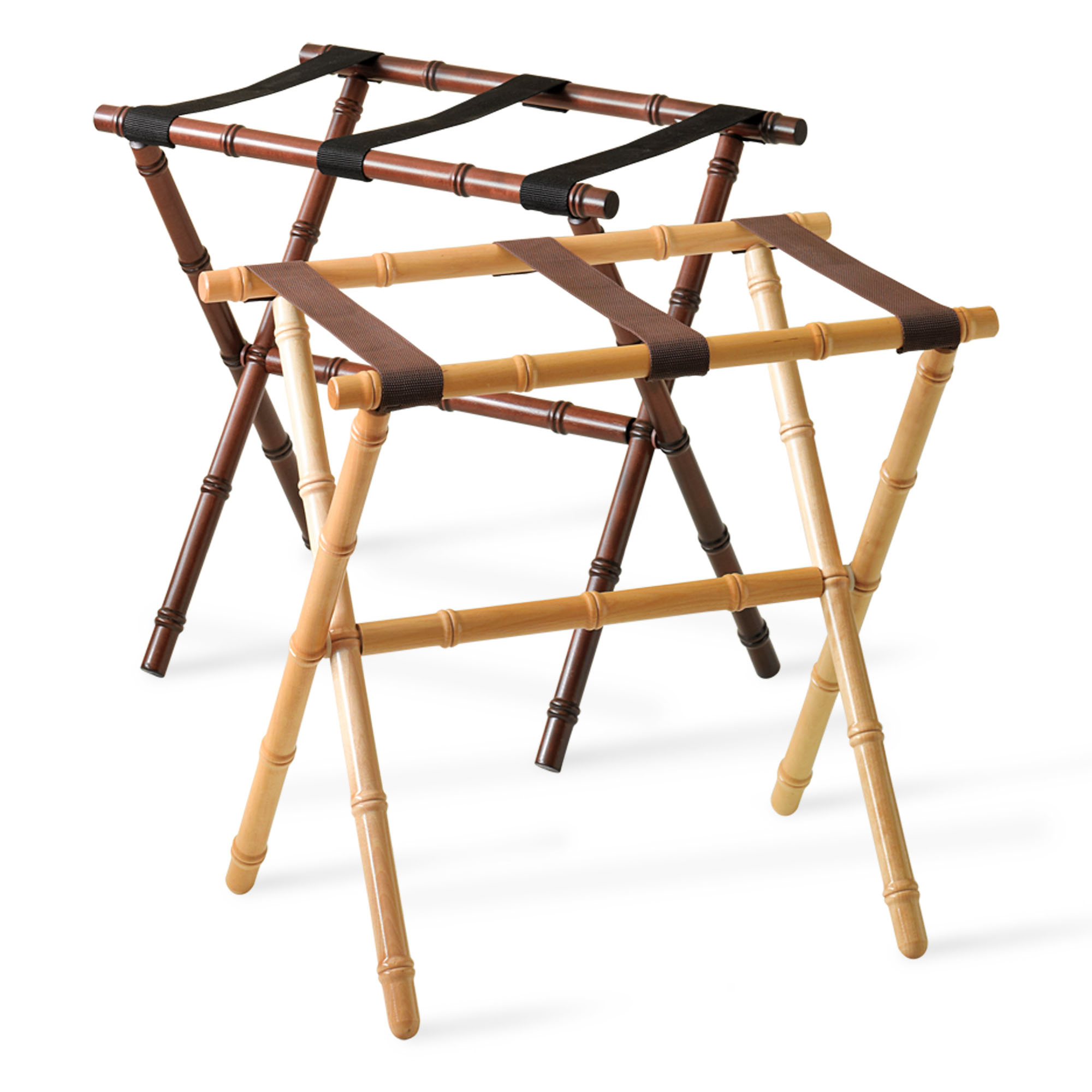 Carved Bamboo Luggage Rack