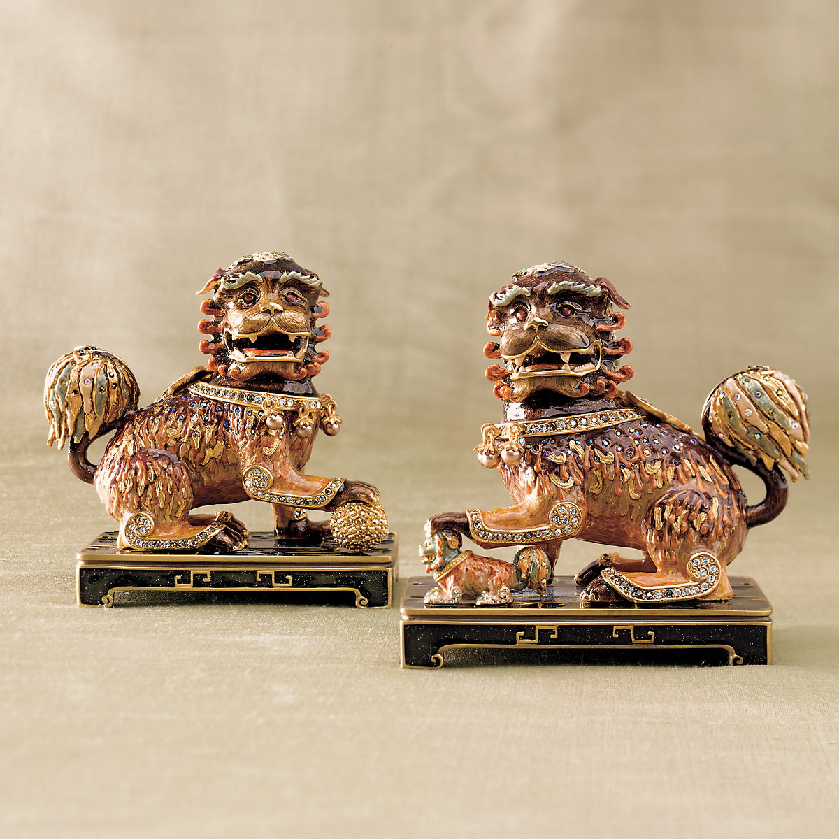 Jay Strongwater Foo Dog Bookends   Gump\'s