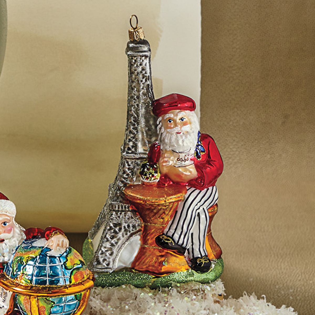 Parisian Santa Ornament