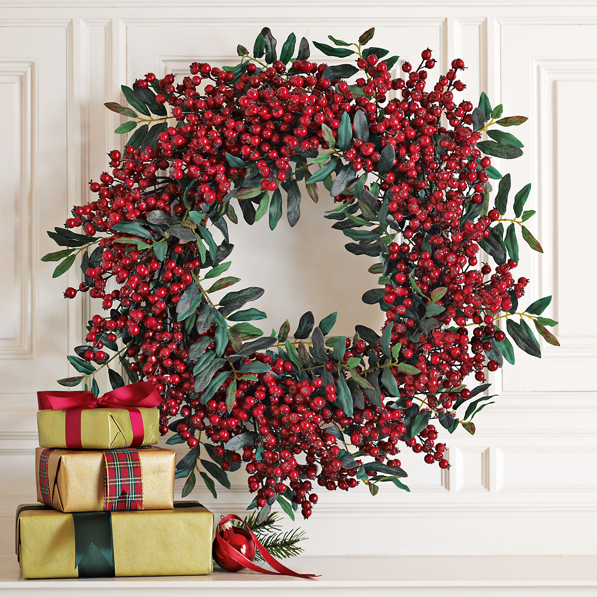 Festive Red Berry Wreath