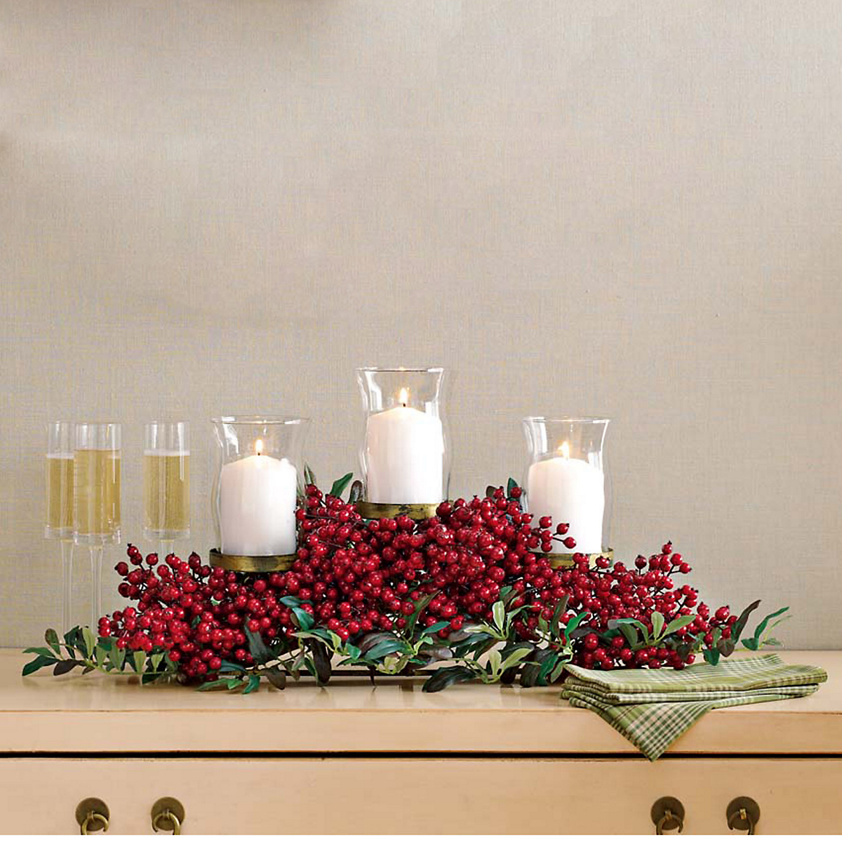 Festive Red Berry Centerpiece