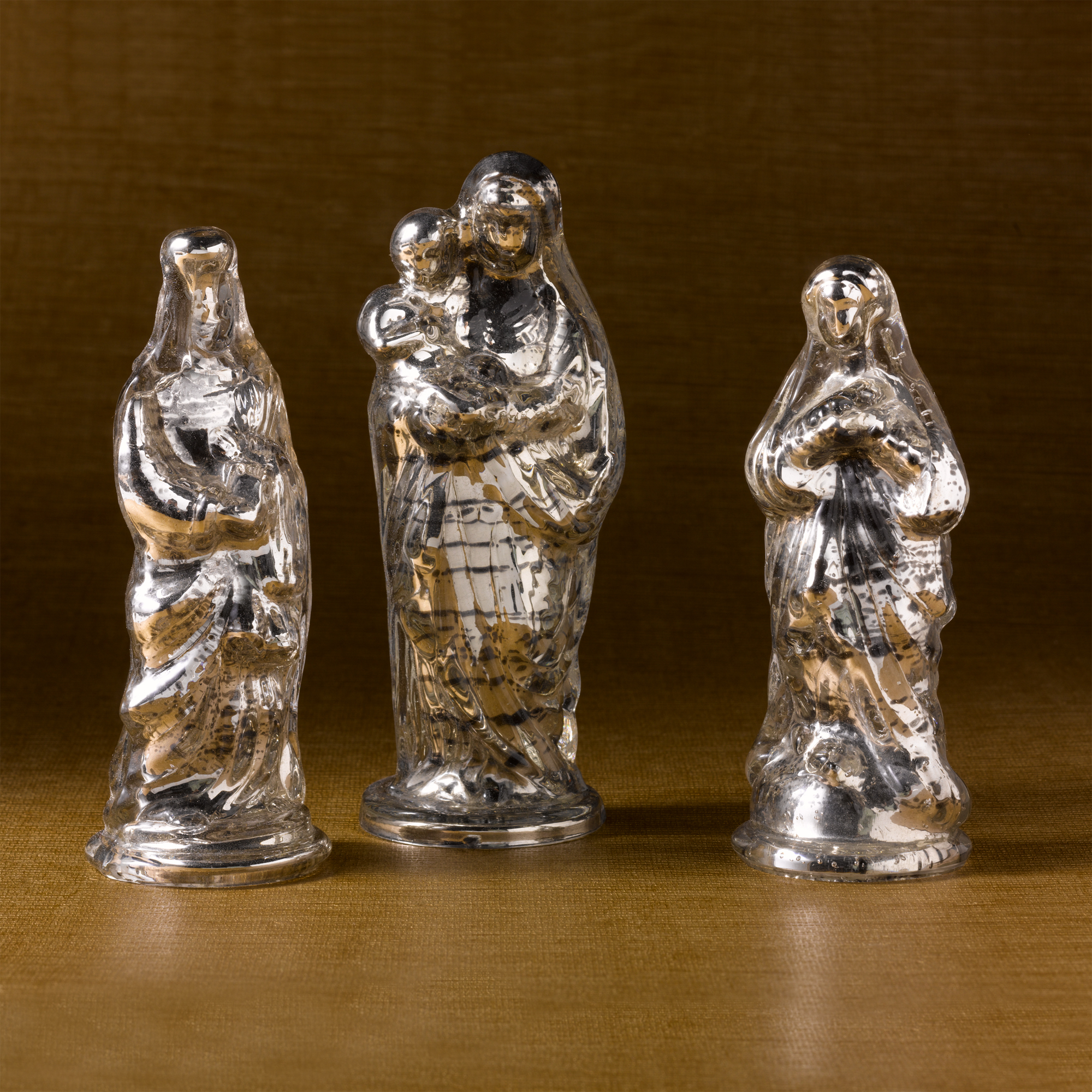 Antiqued Mercury Glass Figures