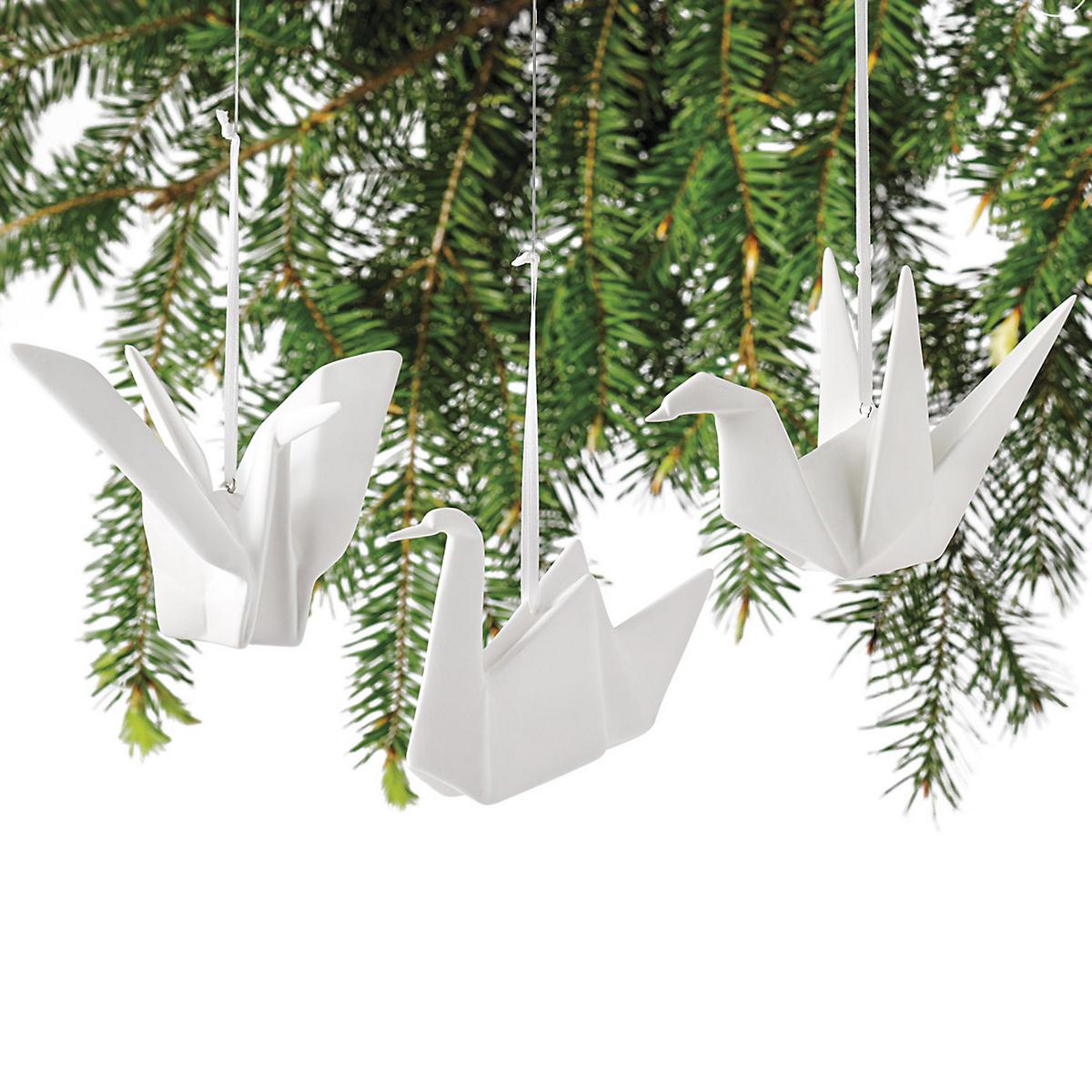 origami crane christmas ornaments gumps