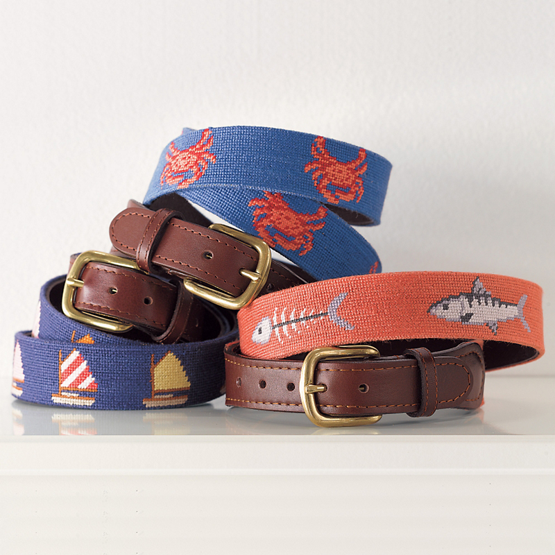Maritime Needlepoint Belts