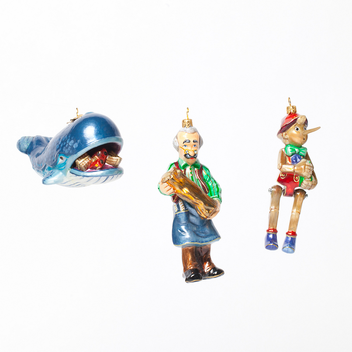 Pinocchio Christmas Ornament Collection