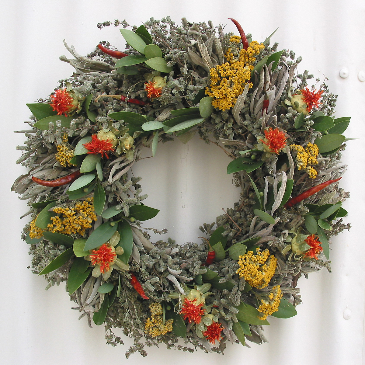 Safflower Herb Wreath