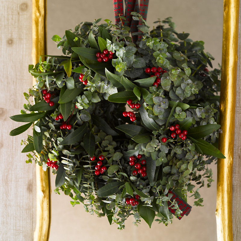 Fresh Eucalyptus Berry Wreath