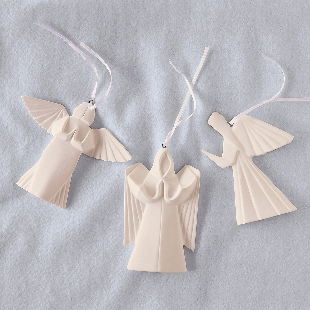porcelain origami angels ornament set gumps