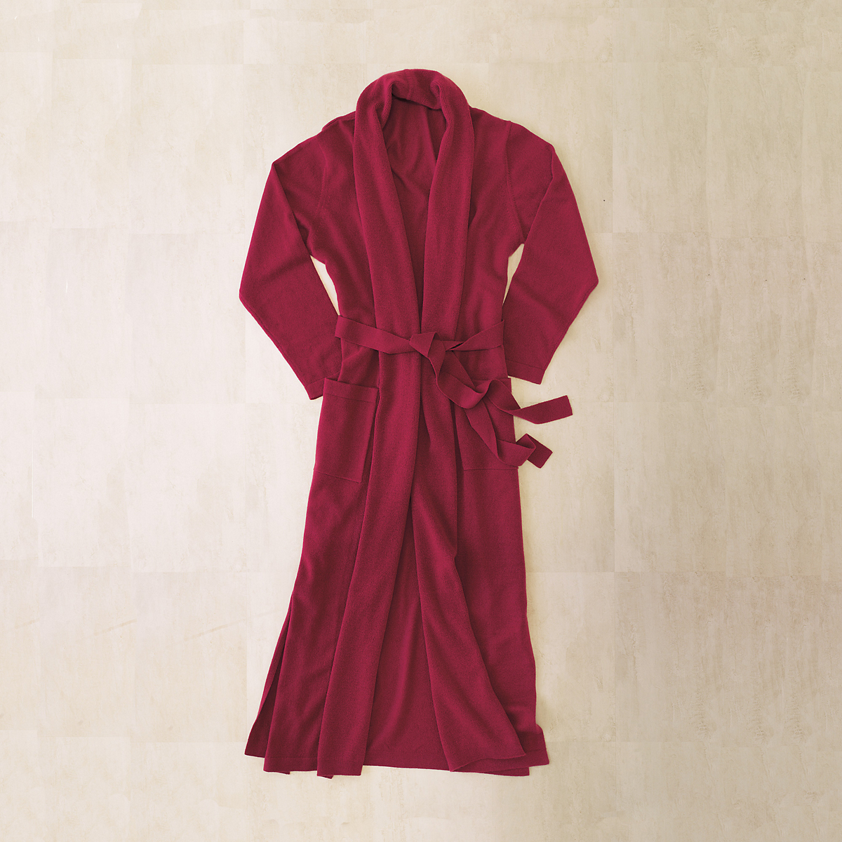 Cranberry Cashmere Robe