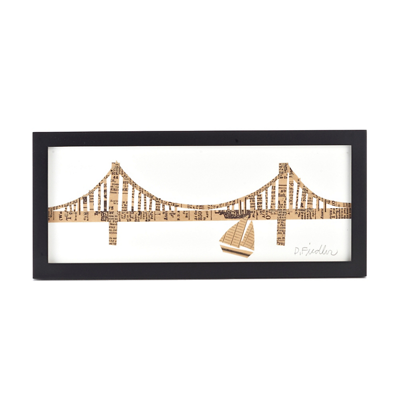Paste Framed Golden Gate Bridge Collage, 4x10
