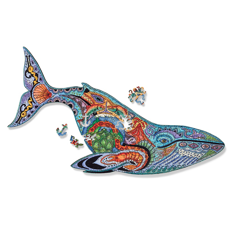Woodcut Whale Puzzle