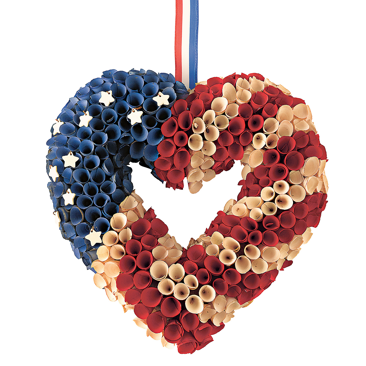 Americana Wood Wreath