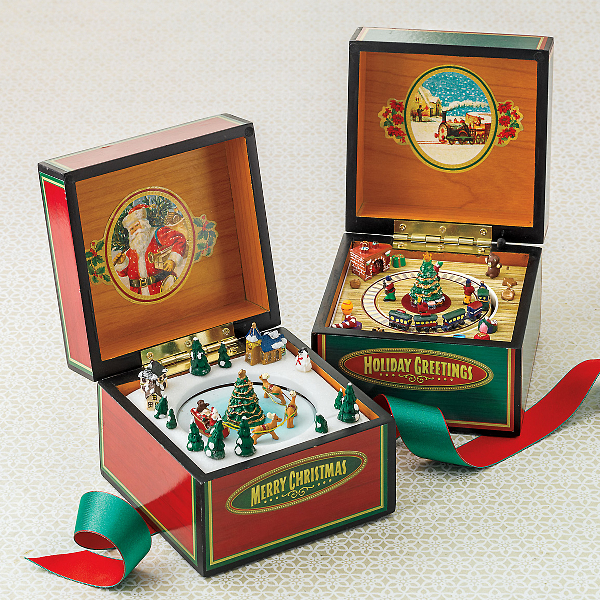Mini Vintage Music Boxes