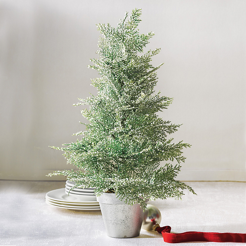 Snowy Cedar Tabletop Tree