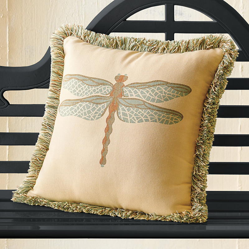 Indoor/Outdoor Sunbrella Dragonfly Pillow