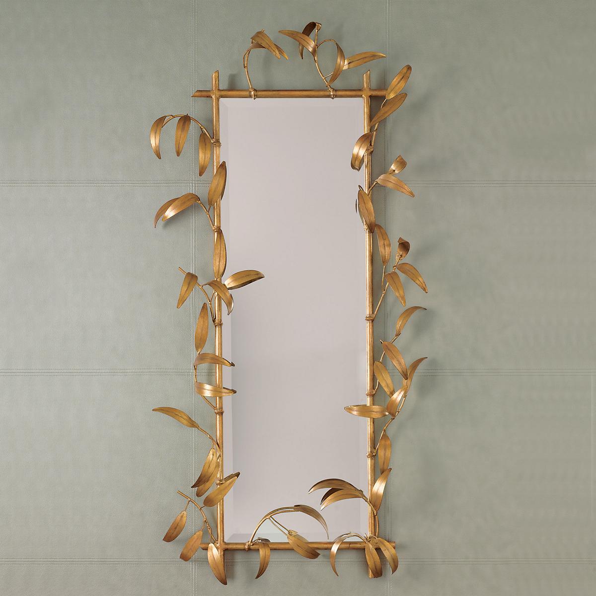 goldleafed bamboo mirror