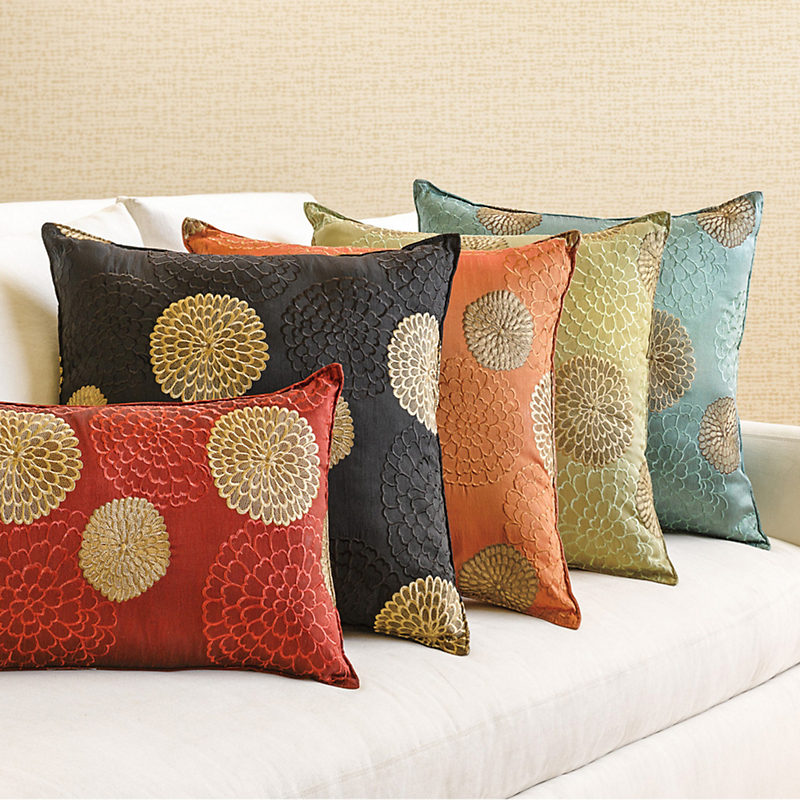 Chrysanthemum Square Pillow, 19""