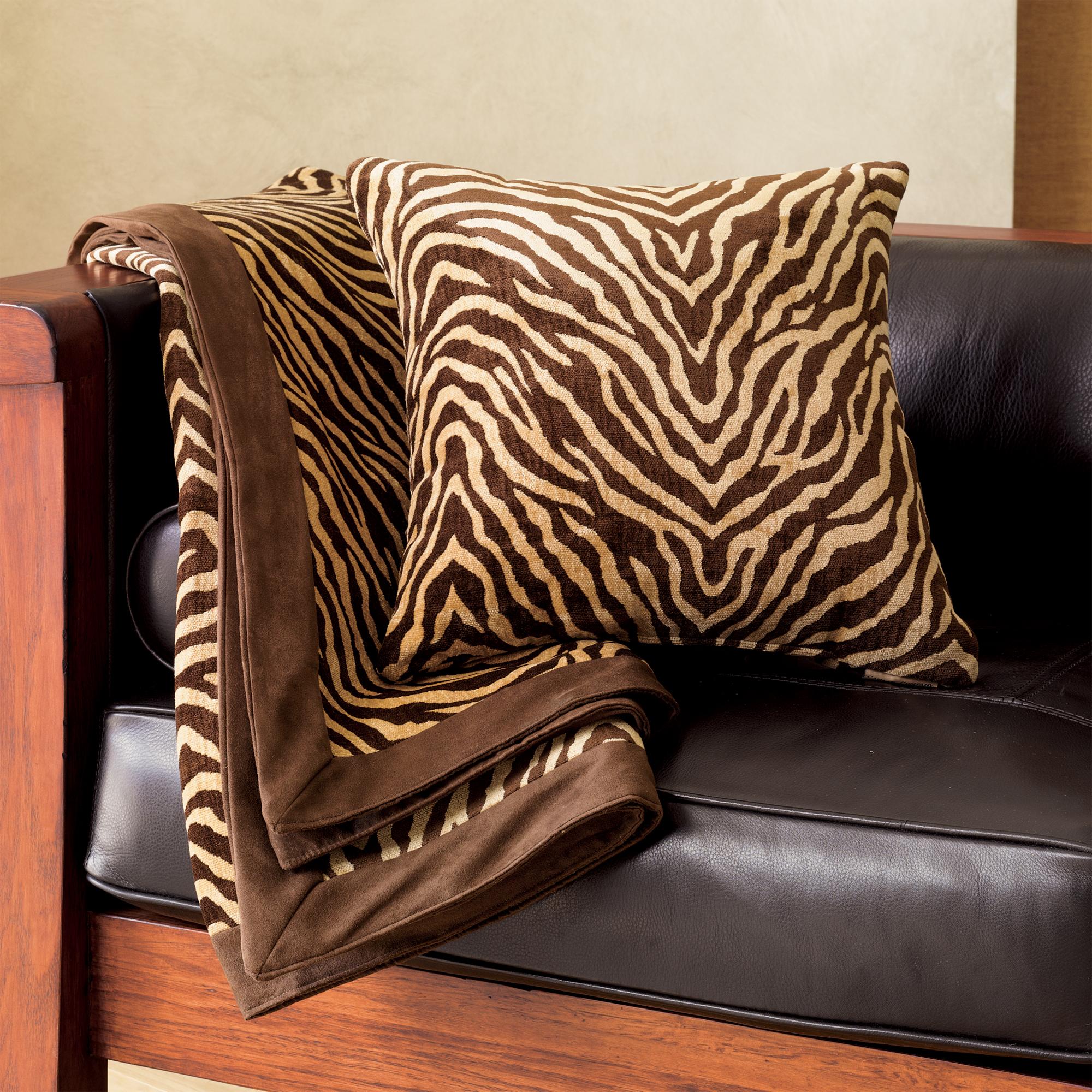Throw Pillows Home : Plush Zebra Throw & Pillow Gump s