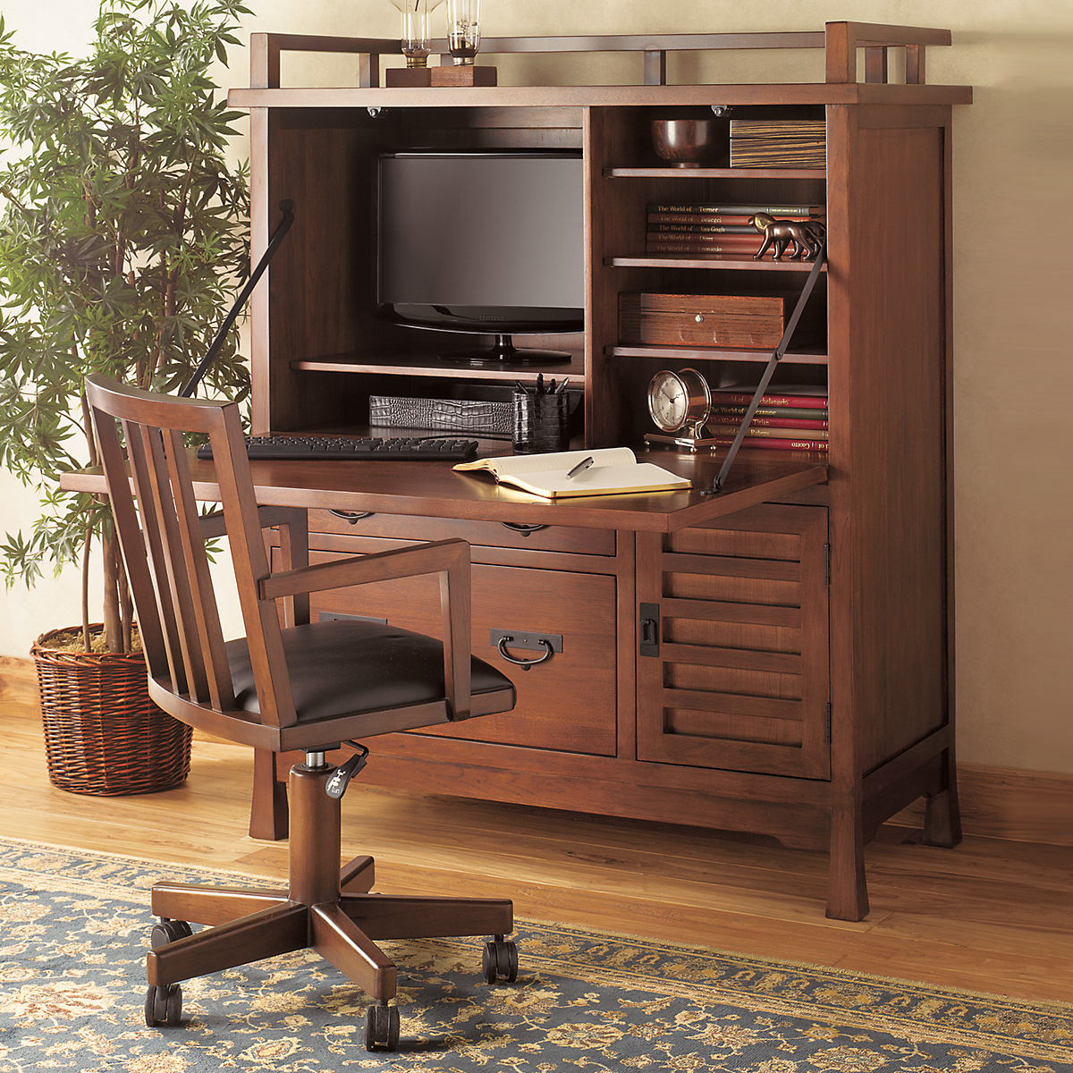Maria Yee Shinto Office Armoire, Compact