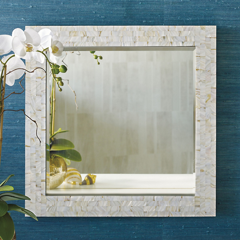 Mother-of-Pearl Mosaic Mirror