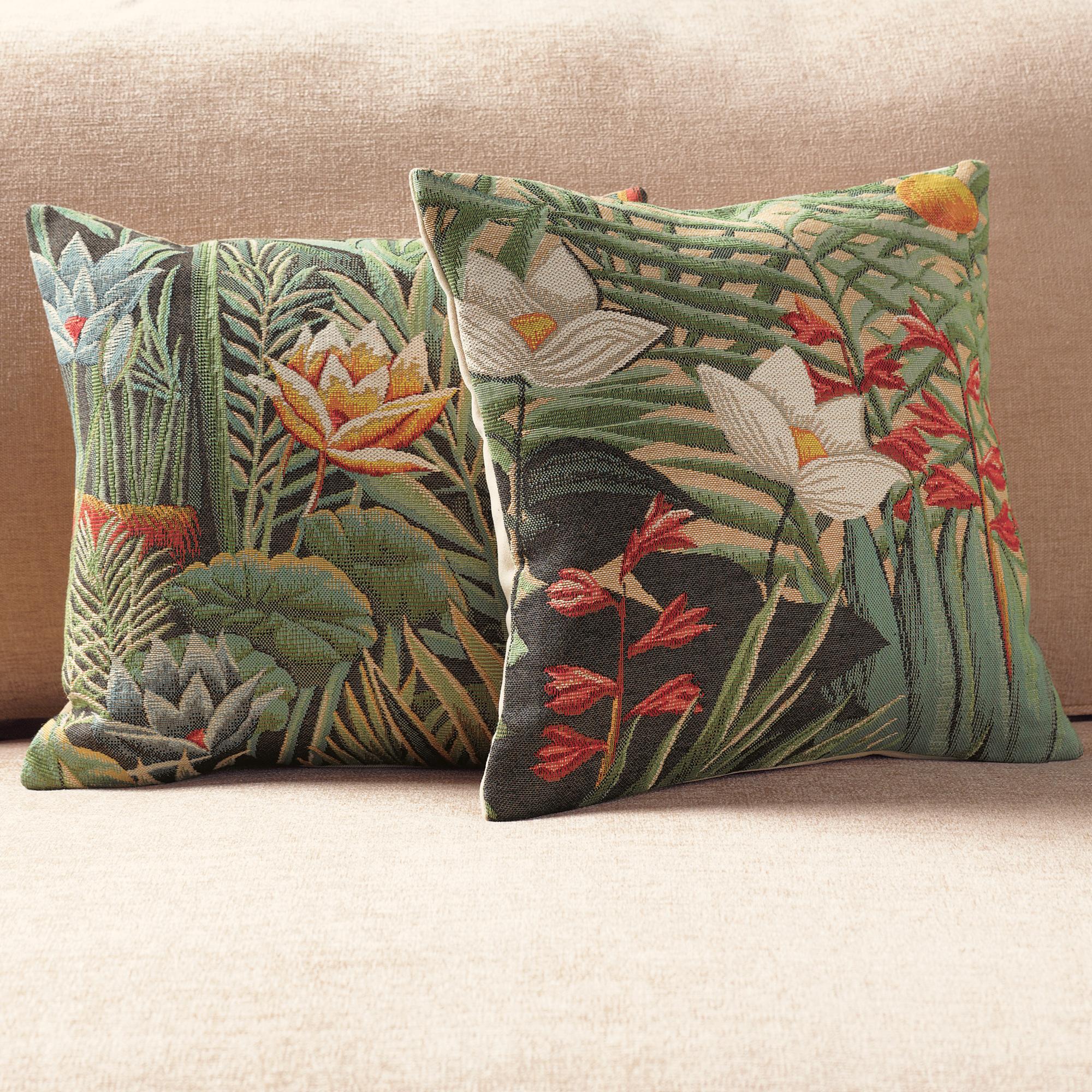 Throw Pillows Home : Rousseau Lotus Pillows Gump s