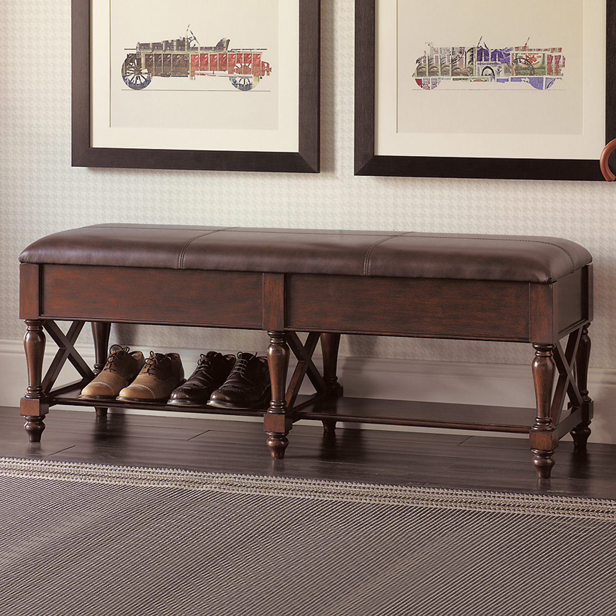Brown Leather Storage Bench Gump 39 S