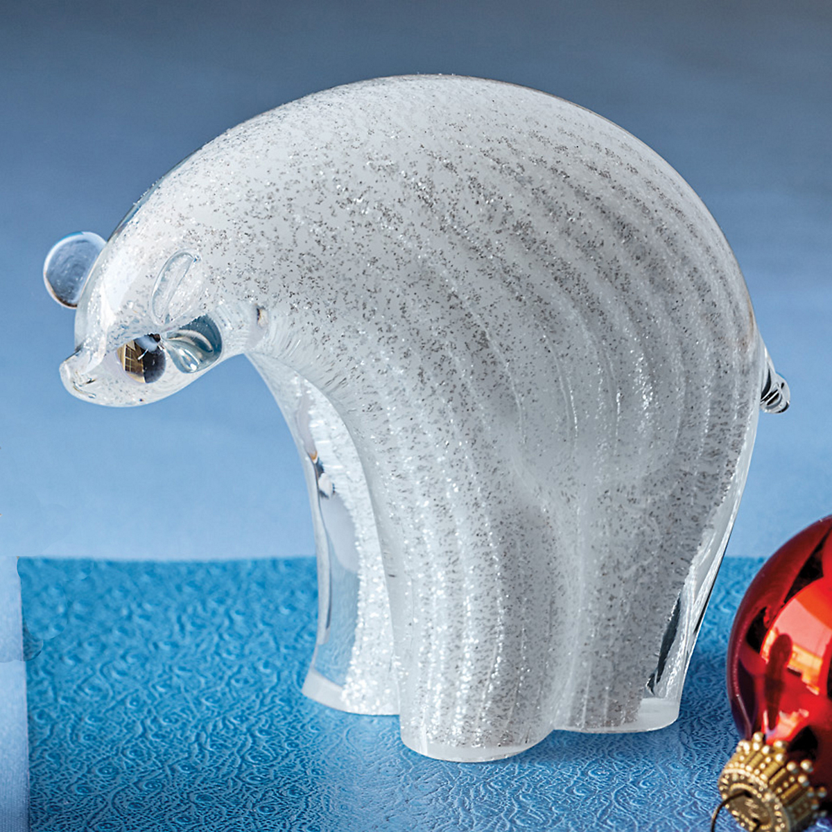 Murano Glass Polar Bear, Large