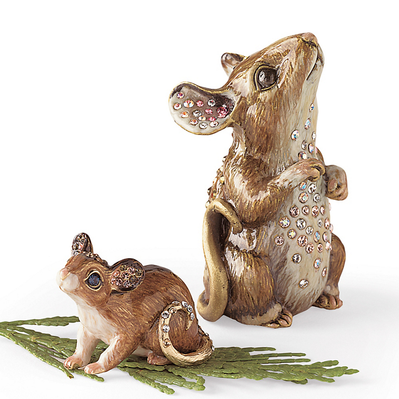 Jay Strongwater Brass Mice