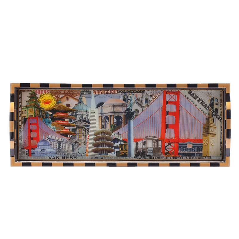 Annie Modica Golden Gate Bar Tray