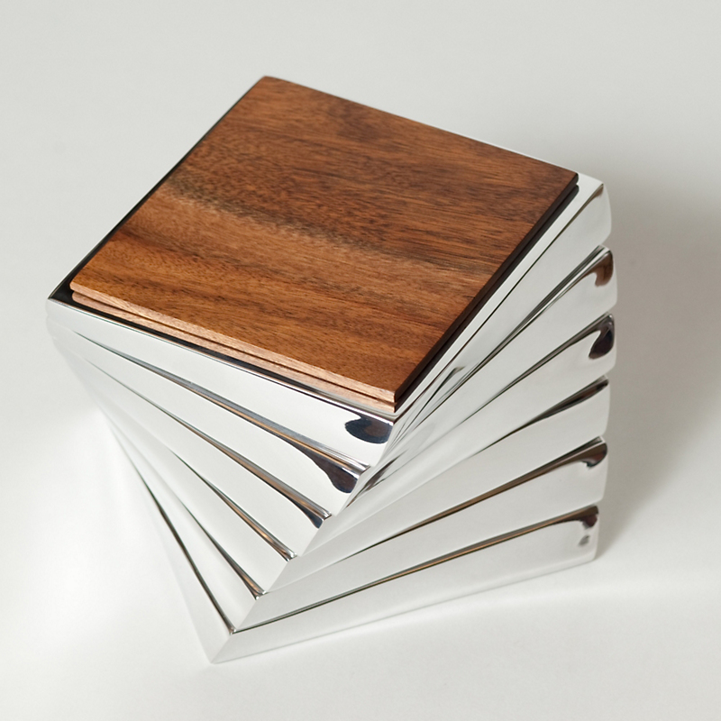 Nambé Twist Coaster Set