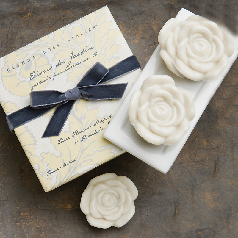 Gianna Rose Set of 3 Gardenia Soaps