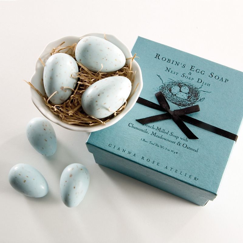 Gianna Rose Robin's Eggs Soaps In Nest Dish