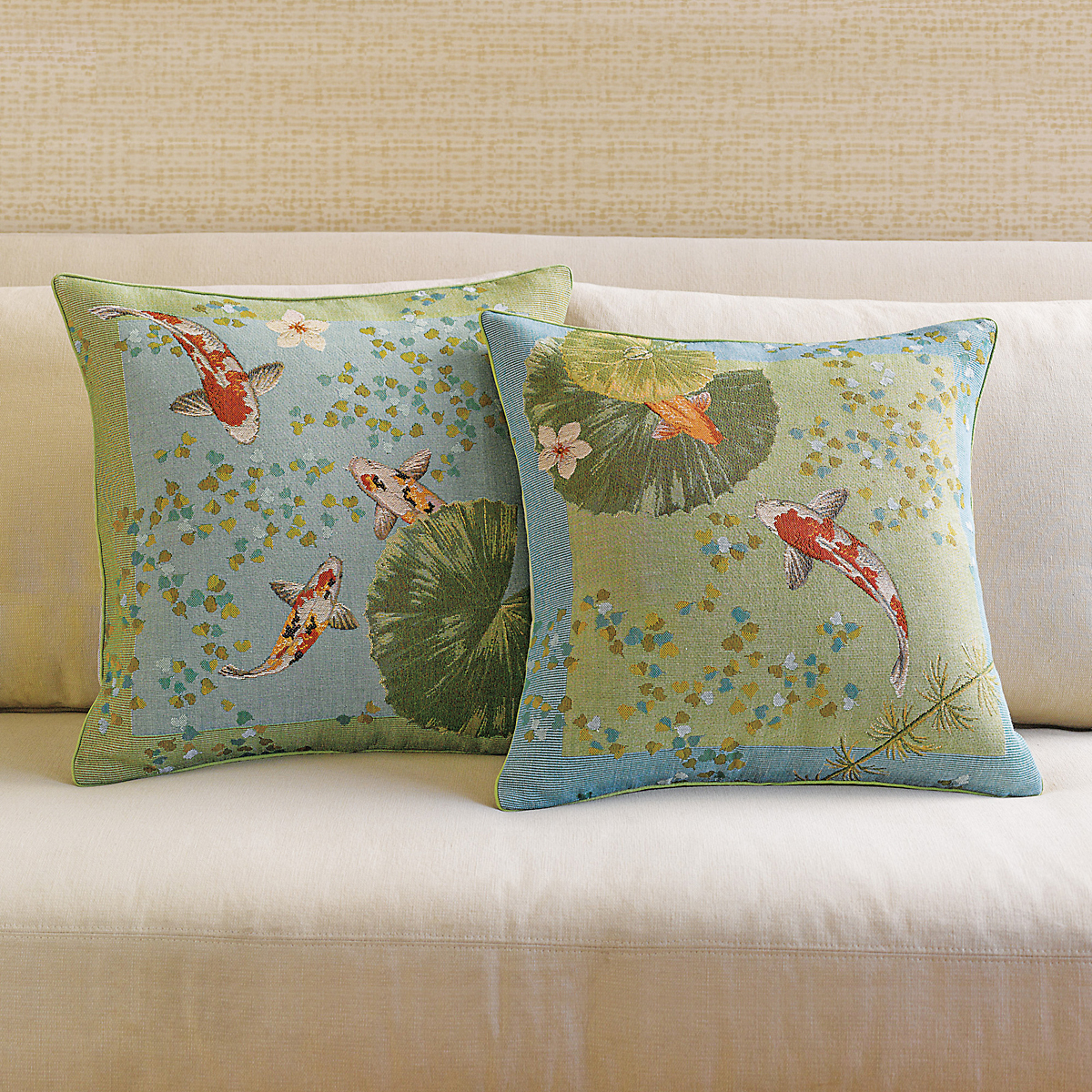 Koi pillows gump 39 s for Koi fish pillow