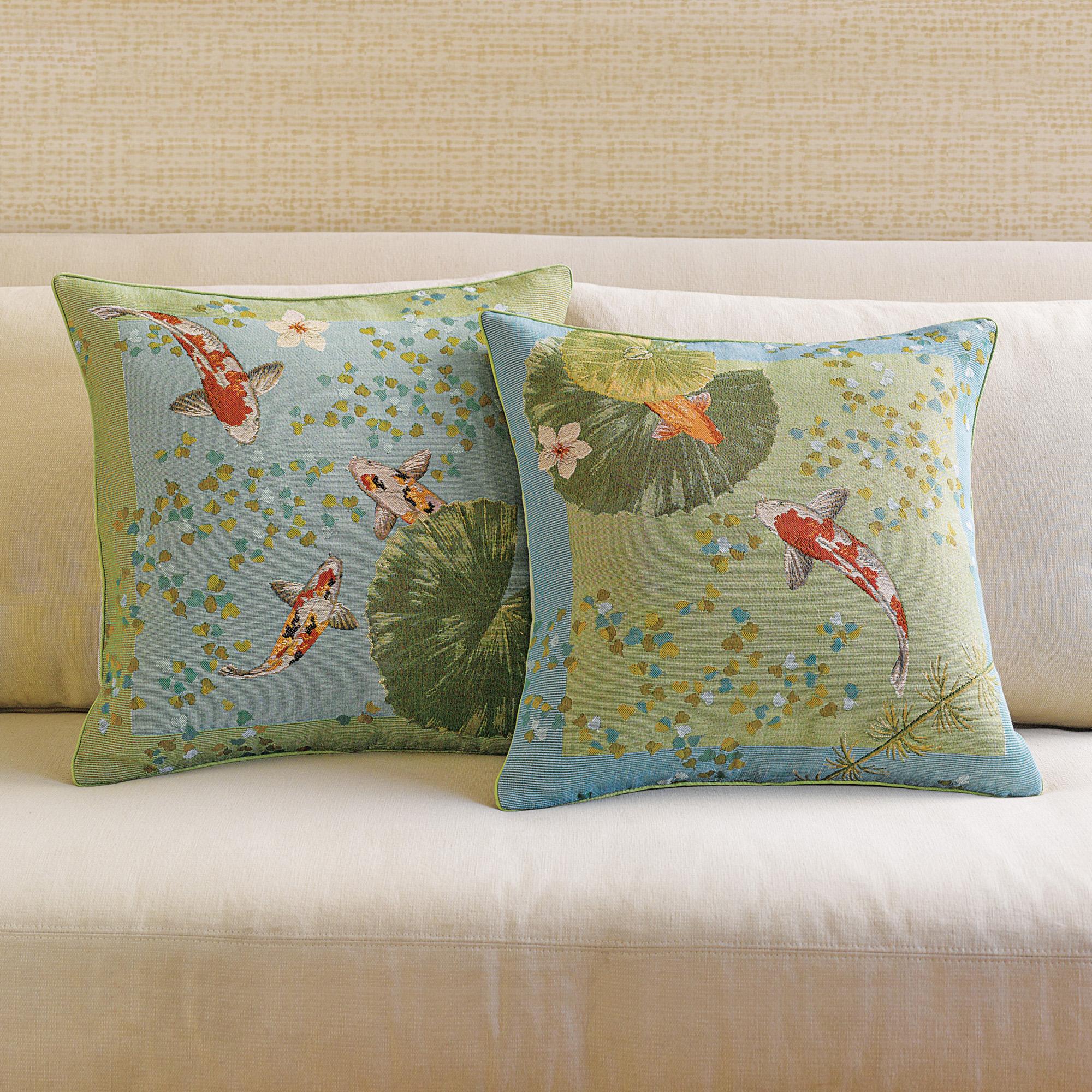 Throw Pillows Home : Koi Pillows Gump s
