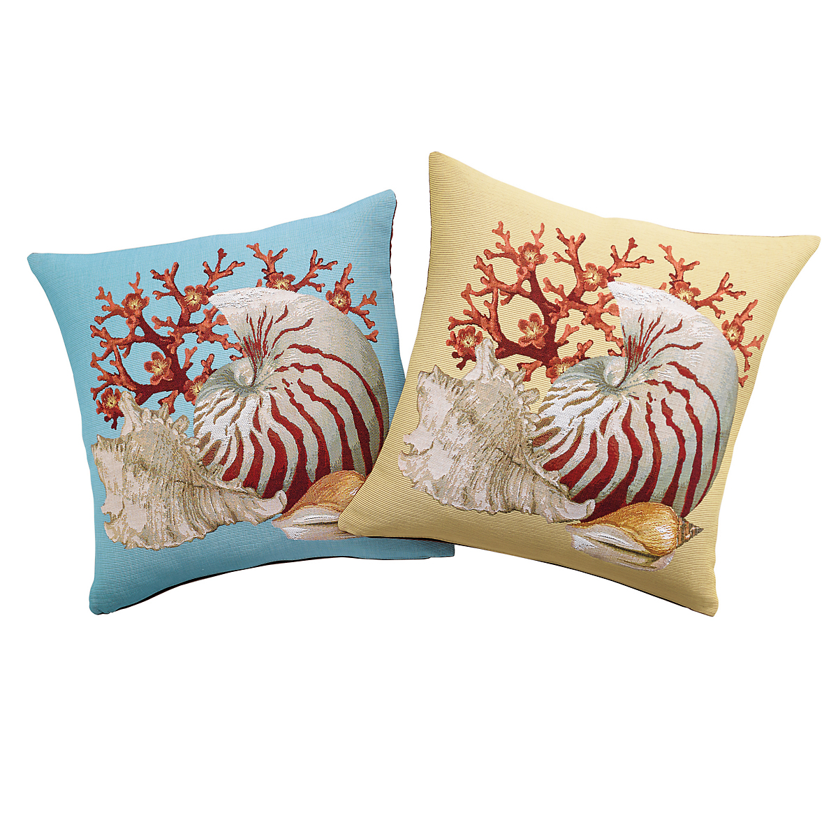 Seashell Tapestry Pillow