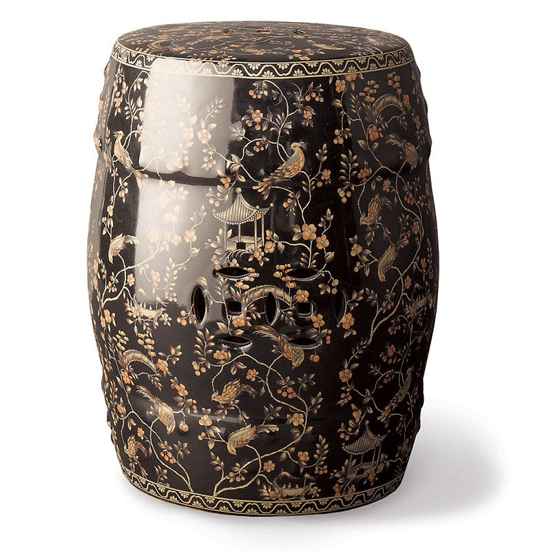 Black Pagoda Garden Stool Gump S