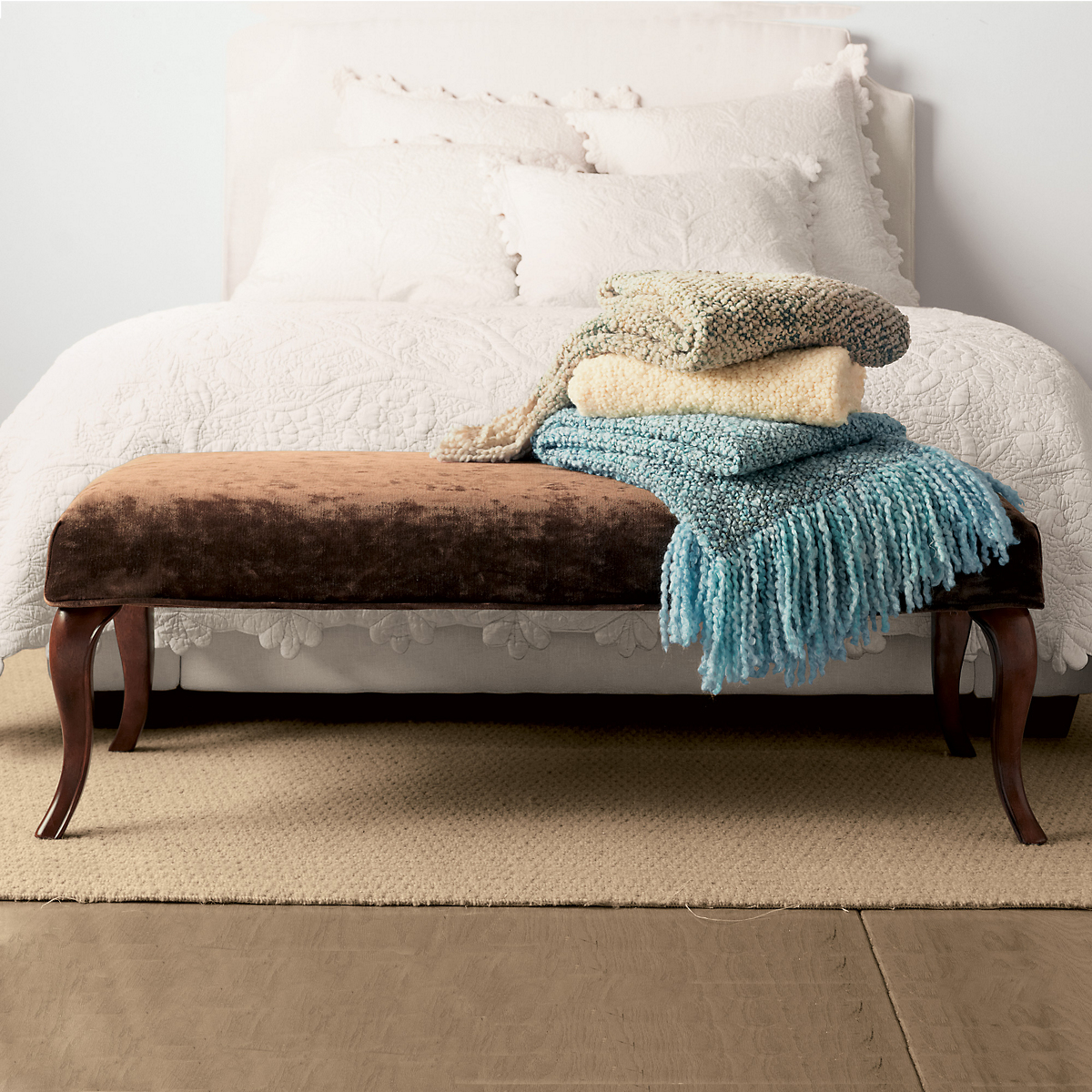 Queen Anne Slipcovered Bench Gump 39 S