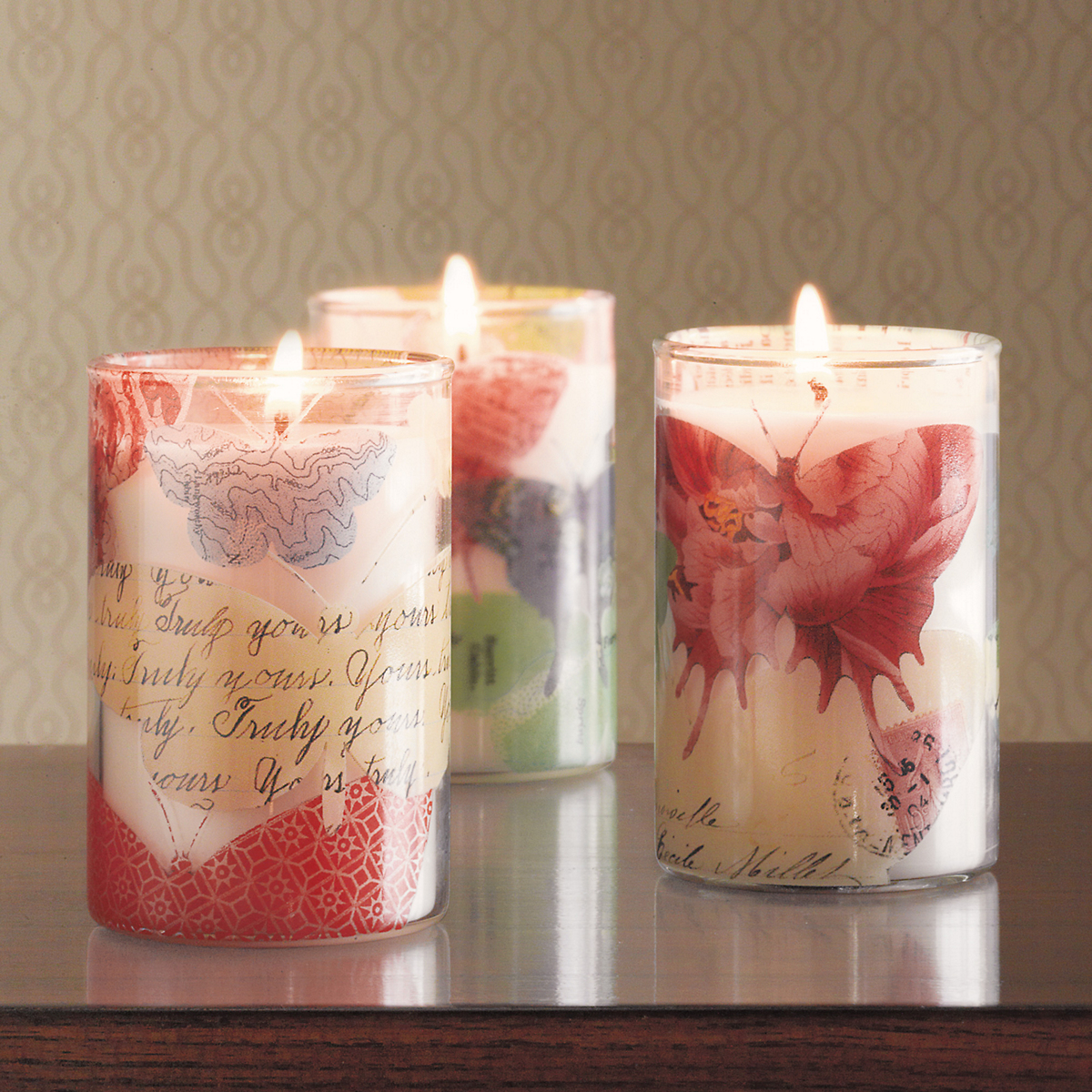 Butterfly Decoupage Candles | Gump's