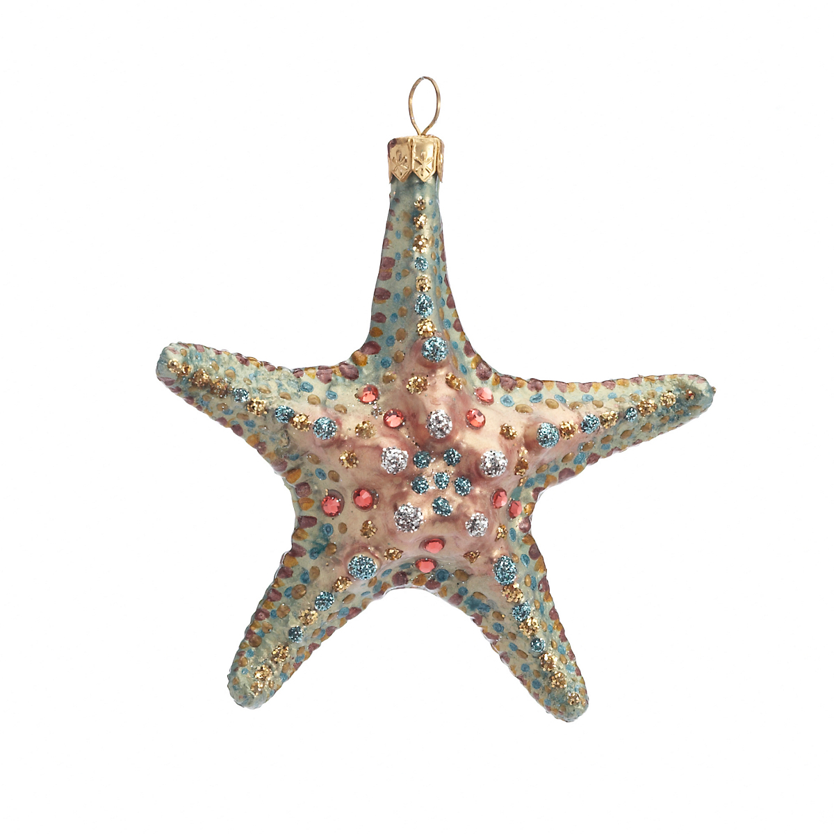 Swarovski Crystal Starfish Christmas Ornament
